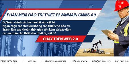 Phần mềm bảo trì thiết bị winmain cmms 4.0