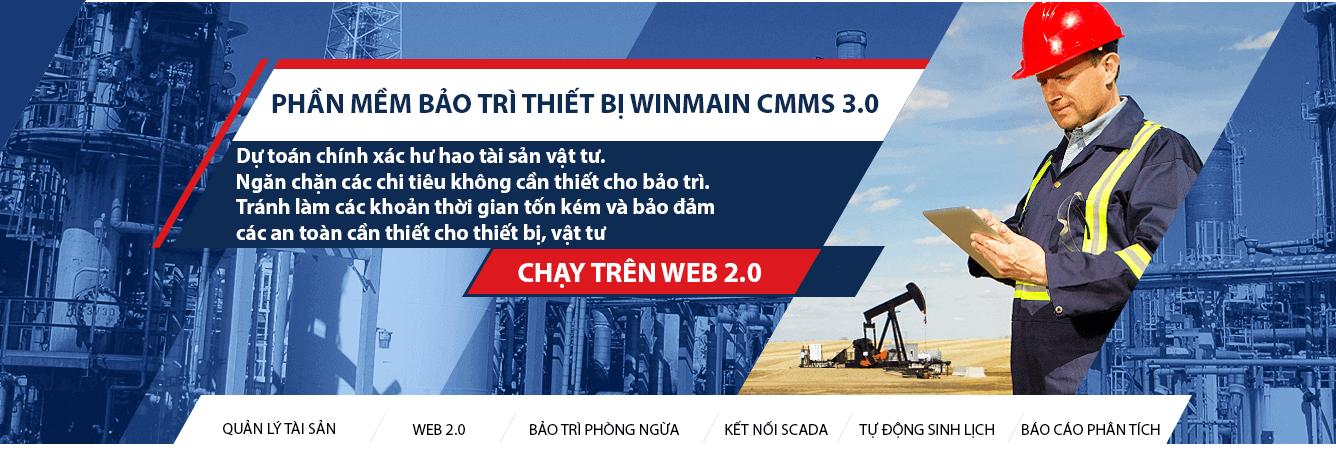 phần mềm quản lý bảo trì thiết bị winmain cmms 3.0